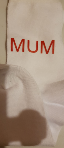 Personalised ladies  white socks